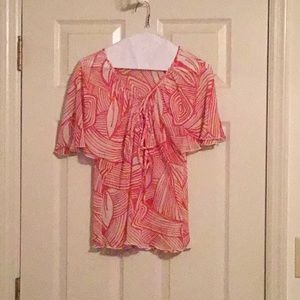 CLOSET FLASH SALE (all>$10) red and white blouse